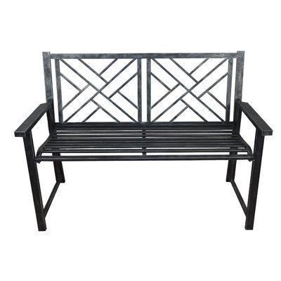 Pleasing Breakwater Bay Shearman Folding Metal Patio Garden Bench Uwap Interior Chair Design Uwaporg