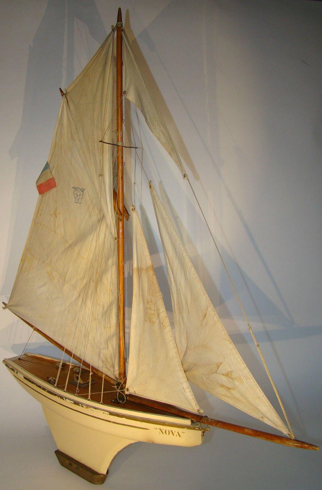Canot de bassin bateau voilier nova 5 voiles n 8 longueur hors tout 90cm in jouets et jeux - Voilier de bassin ancien nanterre ...