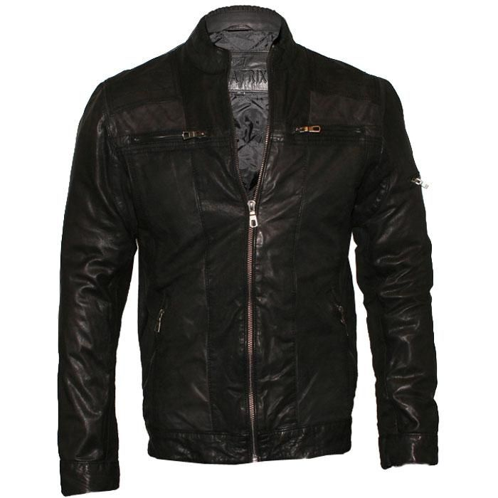 Play.com - Buy Aviatrix Men's Real Leather Grunge Biker Jacket (Black) online at Play.com and read reviews. Free delivery to UK and Europe!