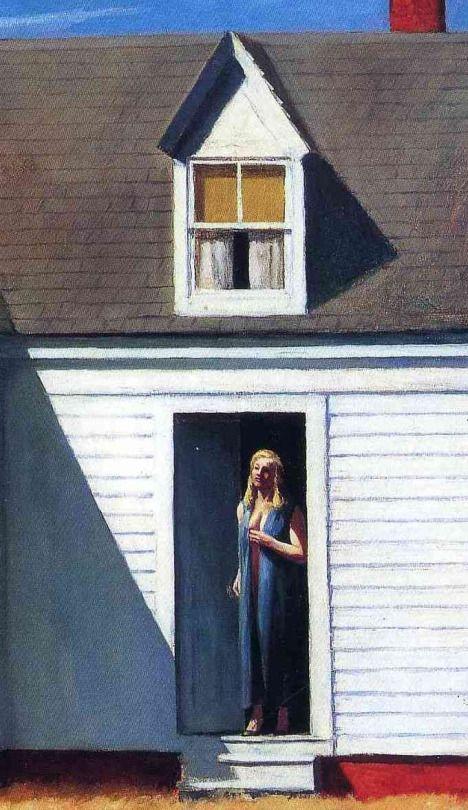 High Noon (Detail) - Edward Hopper. 1949 American 1887-1967 Oil on canvas 27 ½ x 39 ½ .