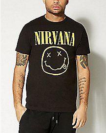 fdd7e8b8 Smile Nirvana T shirt | Spencers | Mens tops, T shirt, Shirts