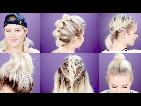 Youtube Hairstyles Simple 7 Easy Gymworkout Short Hairstyles Tutorial  Milabu  Youtube