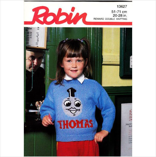 13627 Robin Knitting Pattern Dk Jumper Thomas The Tank Engine