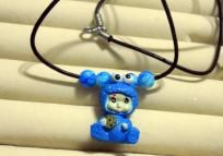 Cookie Monster Baby Necklace