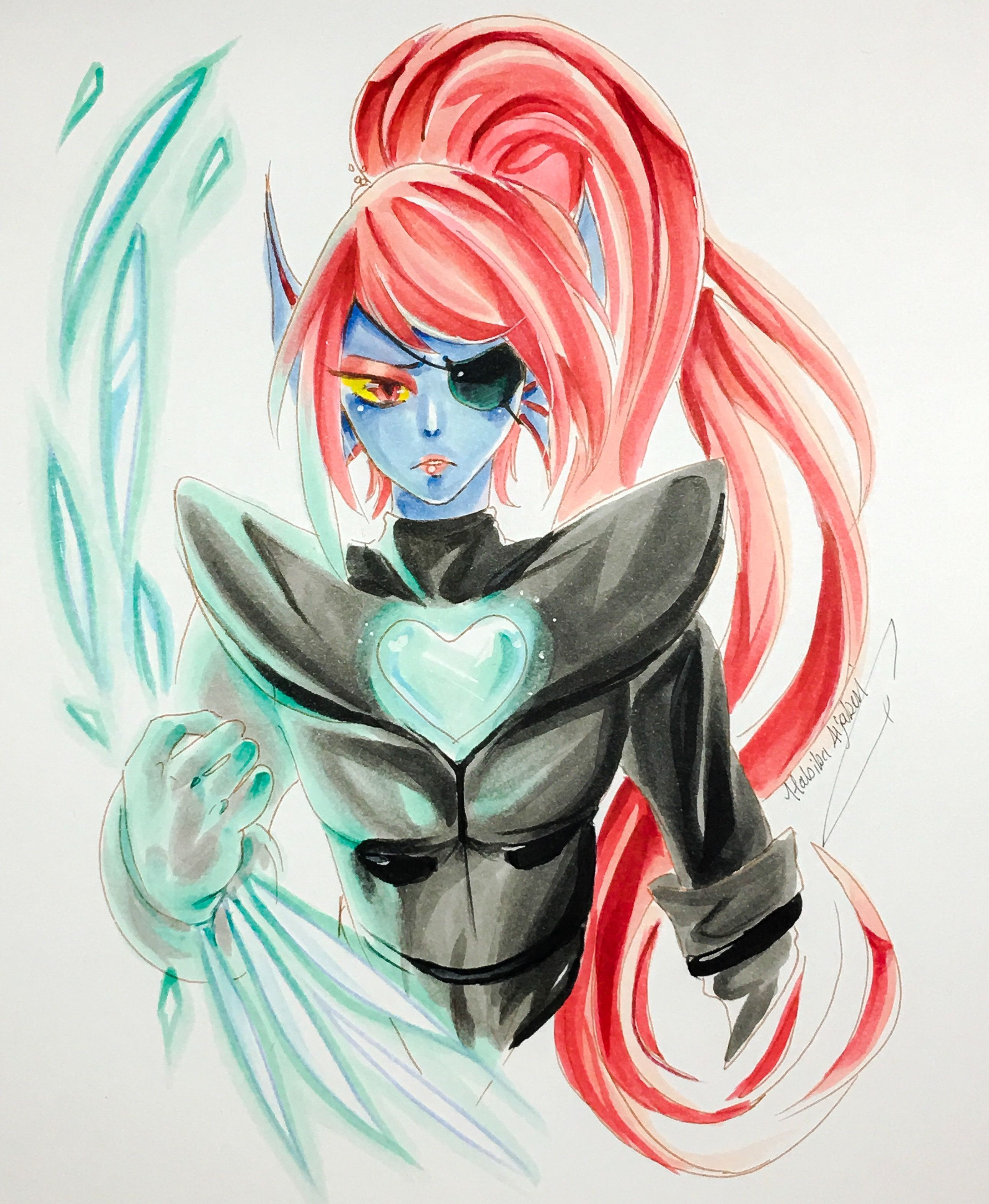 Fanart for #undyne from #undertale used #copicsketch