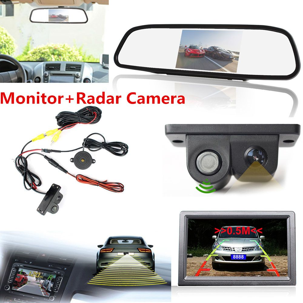 Brand new night vision radar ccd car reverse camera 43