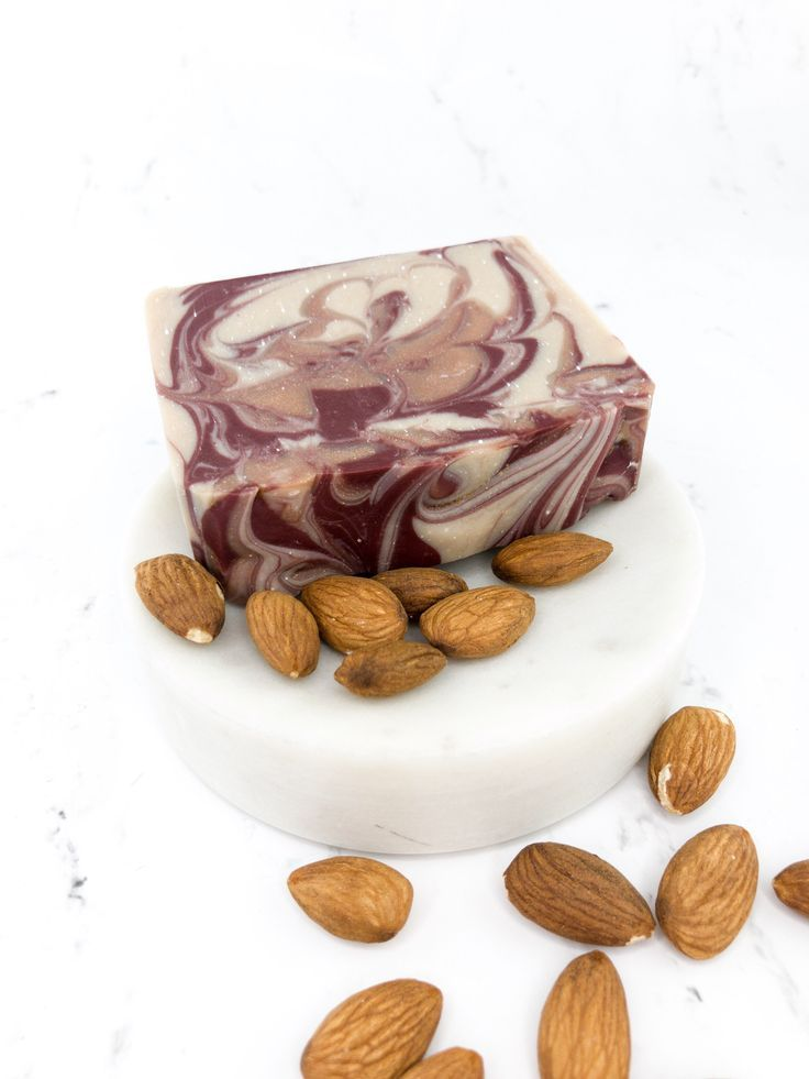 All Natural Cherry Almond Homemade Soap, Moisturizing soap Dry skin, Three butter soap, Shea Butter soap, Self Care Gift, Housewarming gift Excited to share the latest addition to my shop: All Natural Cherry Almond Homemade Soap with Silk, Coconut Milk Nourishing Dry skin soap, Three butter soap