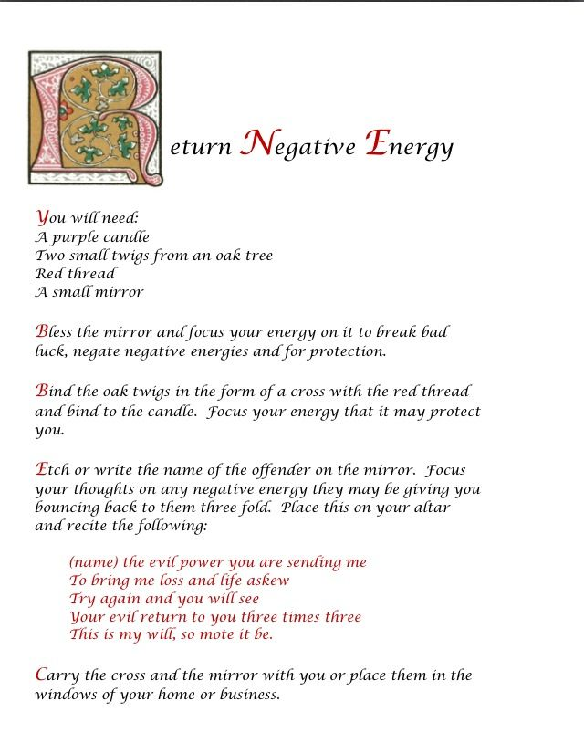 Spell to Return Negative Energy wicca Pinterest - business meeting minutes template word