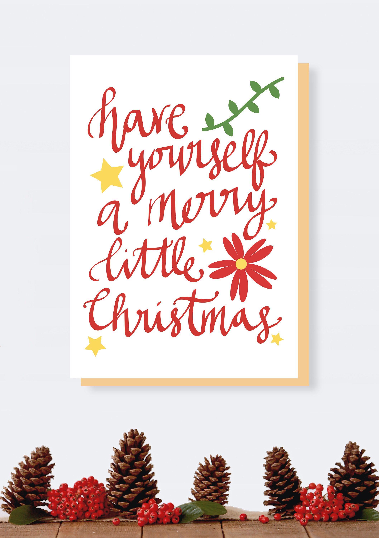 Merry Little Christmas Cards, Christmas Print, Printable, Christmas ...