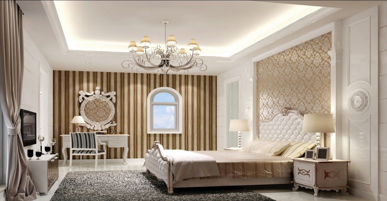 Elegant Wallpaper Home Designs Modern European Elegant Bedroom - Design patterns for bedroom interiors
