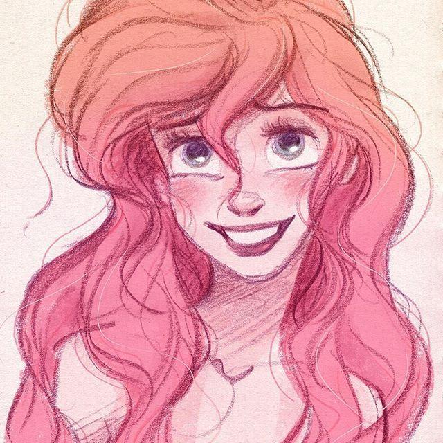 "FR-: Bon Anniversaire Ariel! ""La Petite Sirène"" a 27 ans aujourd'hui! :) EN-: Happy Birthday Ariel! ""The Little Mermaid"" turns 27 years old tomorrow! :) Follow my art on Facebook.com/artofdavidgilson + davidgilson.tumblr.com #Ariel #thelittlemermaid #lapetitesirene #lapetitesirène #disney #happybirthday #fanart #DavidGilson"
