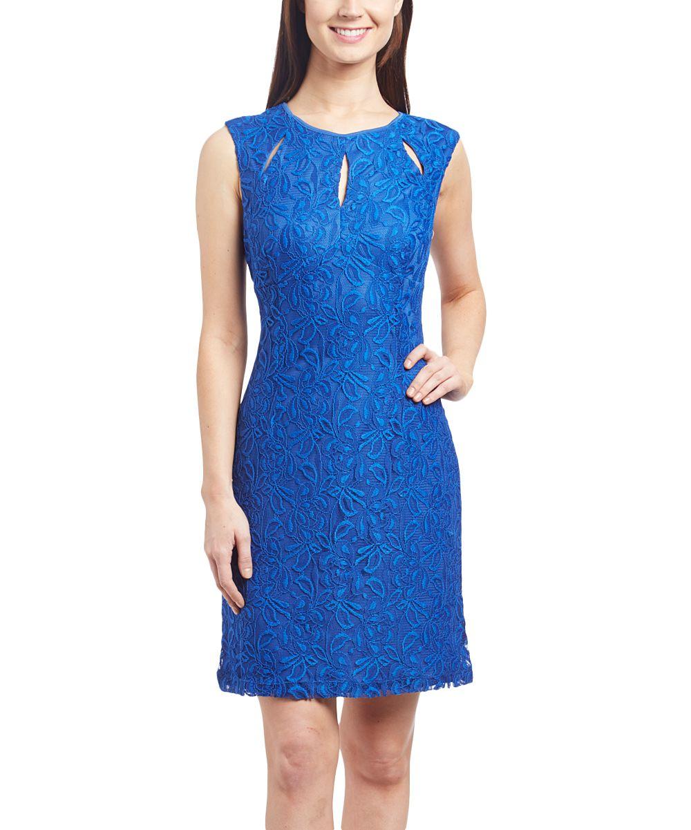 Royal Blue Cutout Sleeveless Dress
