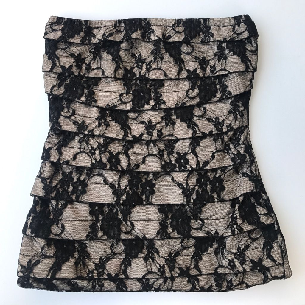 Lace dress bodycon  Strapless Bodycon Lace Dress  Products  Pinterest  Products