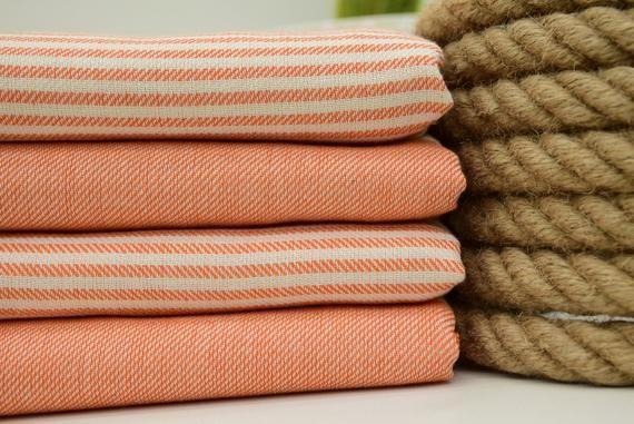 Orange Towel Bath Towel Turkish Towel 40 X70 100x180cm