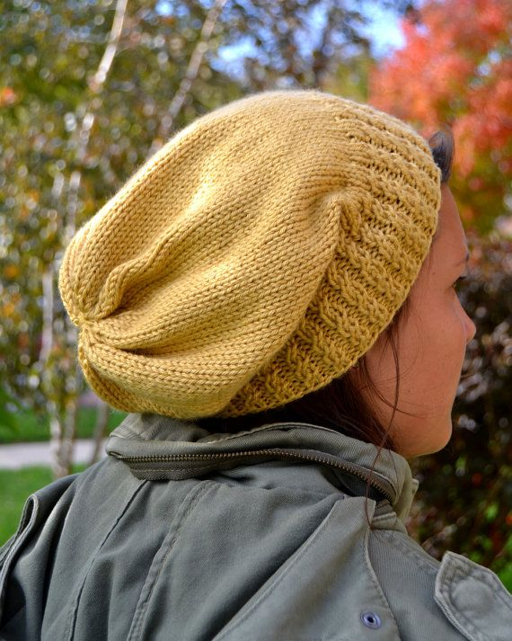 Handknit Mock Cable Beanie
