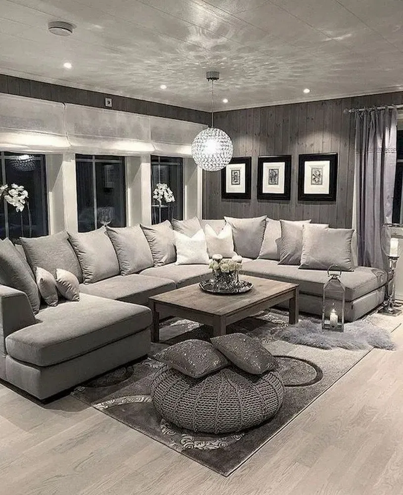 20 Remarkable And Inspiring Grey Living Room Ideas Black Walls
