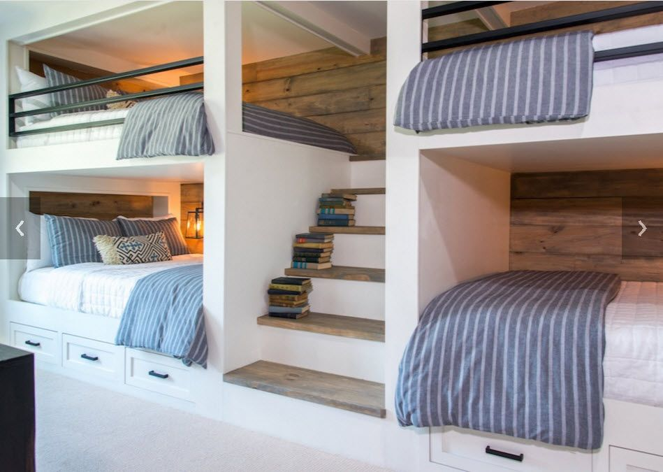 big bunk beds on Episode 04 The Big Country House Magnolia Bunk Beds Built In Bunk Bed Rooms Built In Bunks