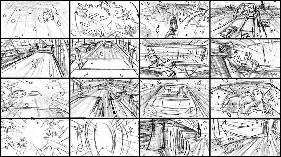 Wrecked  Storyboard  Scripting  Perception  Design Animation