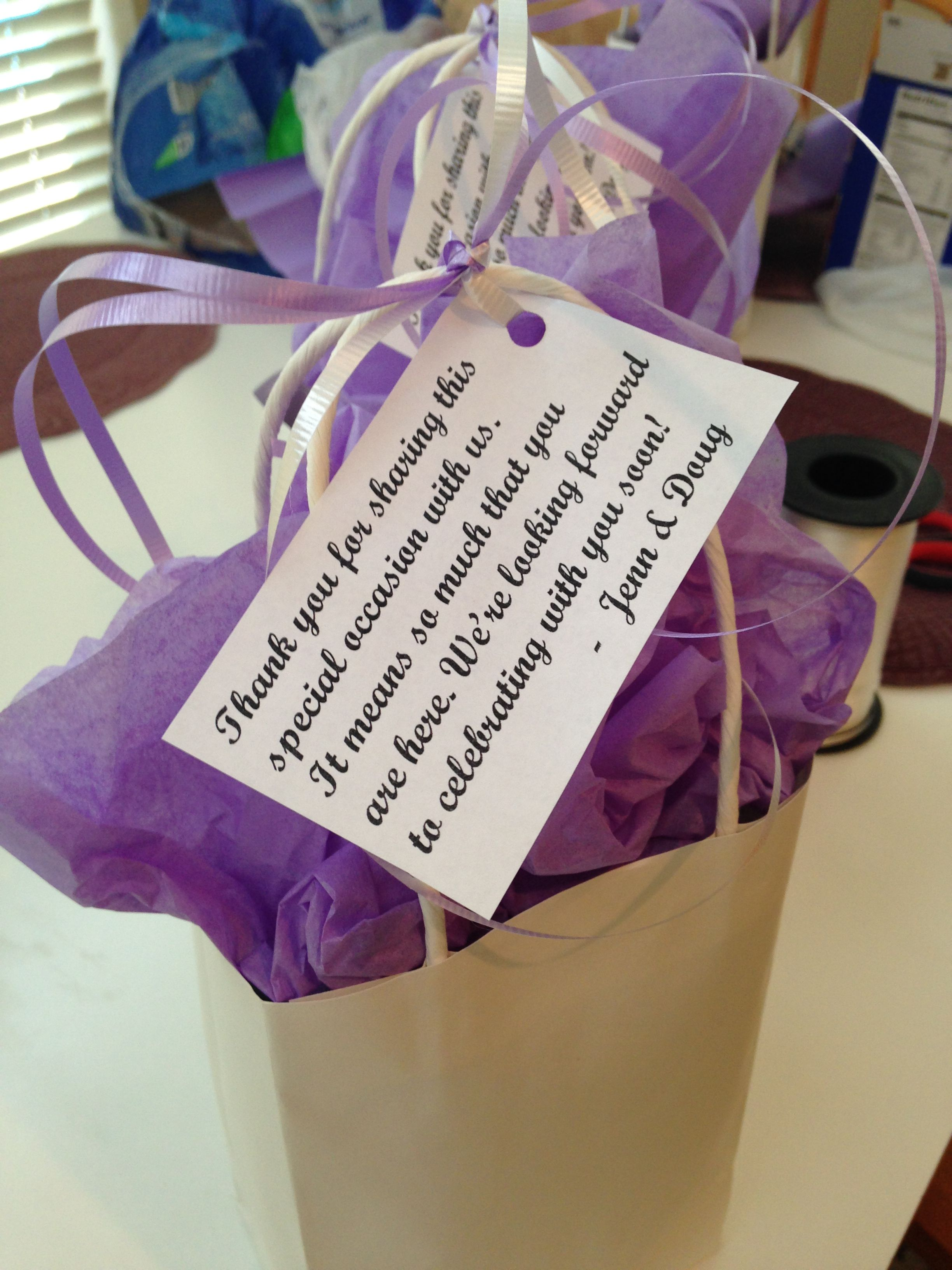 Diy Thank You Gift Bags For Out Of Town Guests Whenever They Check Into The Hotel