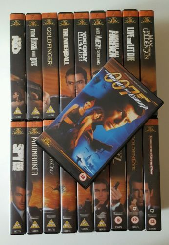 The James Bond 007 Collection 18 X Vhs Boxed The World Is Not