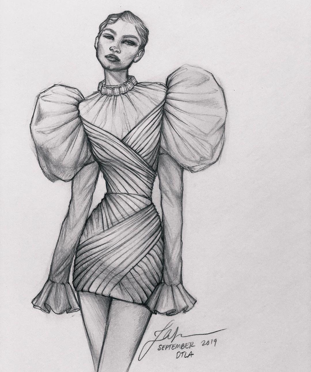 "Photo of Thea Granath 🇺🇸🇸🇪 on Instagram: ""My Sunday Night Sketch – always muse @zendaya in @voguemagazine • • • • #fashionillustration #fashionillustrator #fashionsketch…"""
