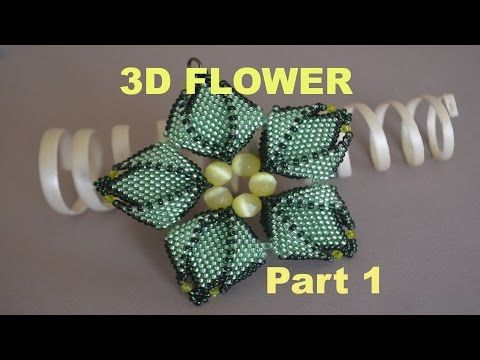 BEADING Tutorial for the STUNNING 3D FLOWER in ENGLISH!!! - YouTube