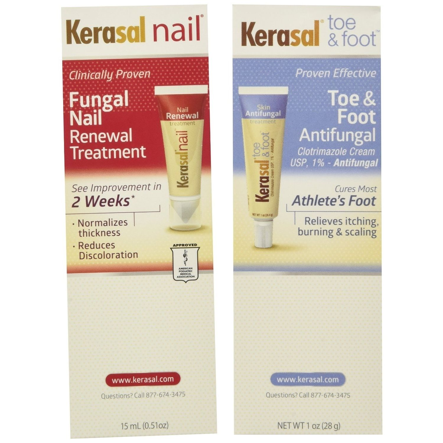 Kerasal Complete Care 2-in-1 Nail, Toe, and Foot Anti-fungal ...
