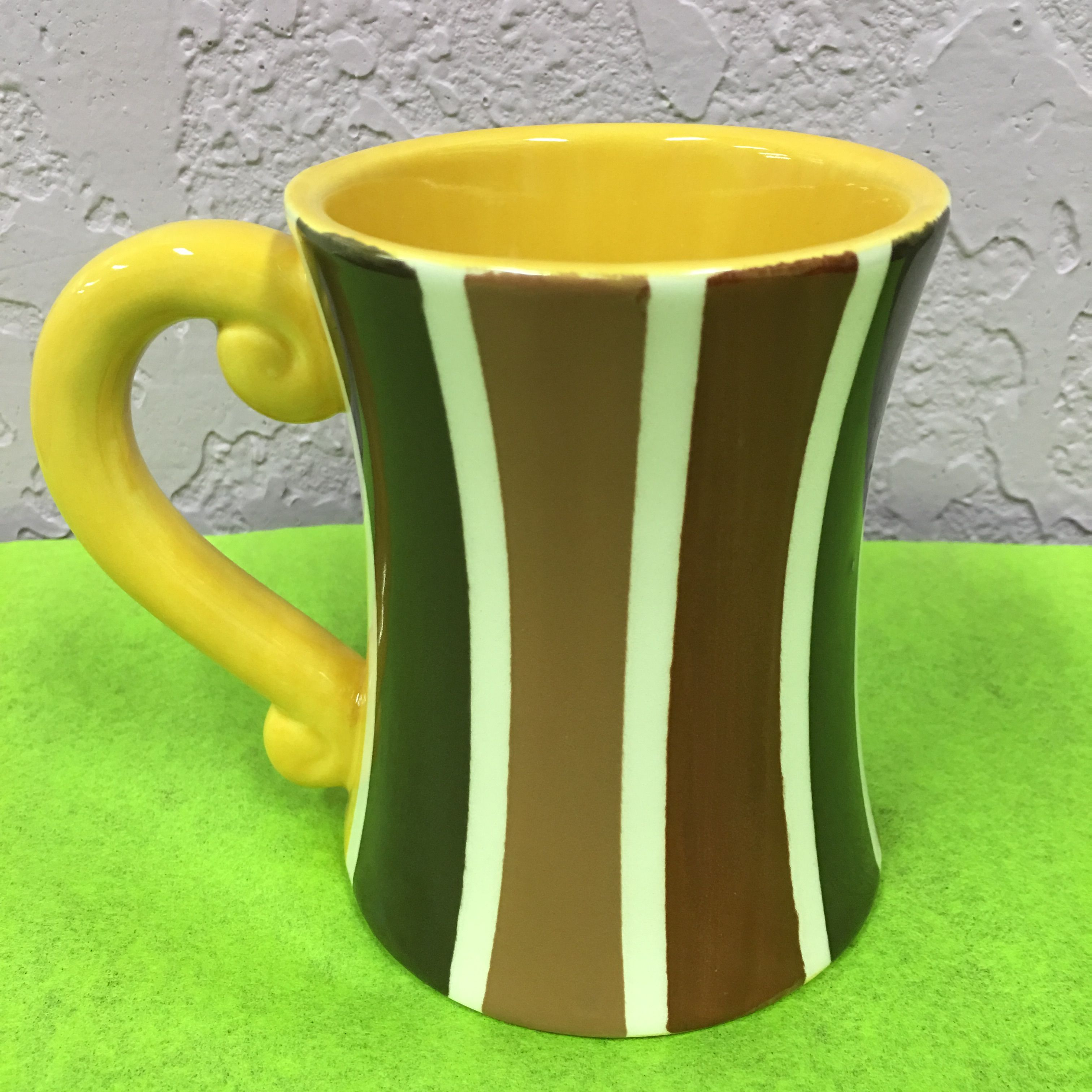 Y Coffee Mug Stripes Birthday Gift Ceramic Pottery Paint Your Own