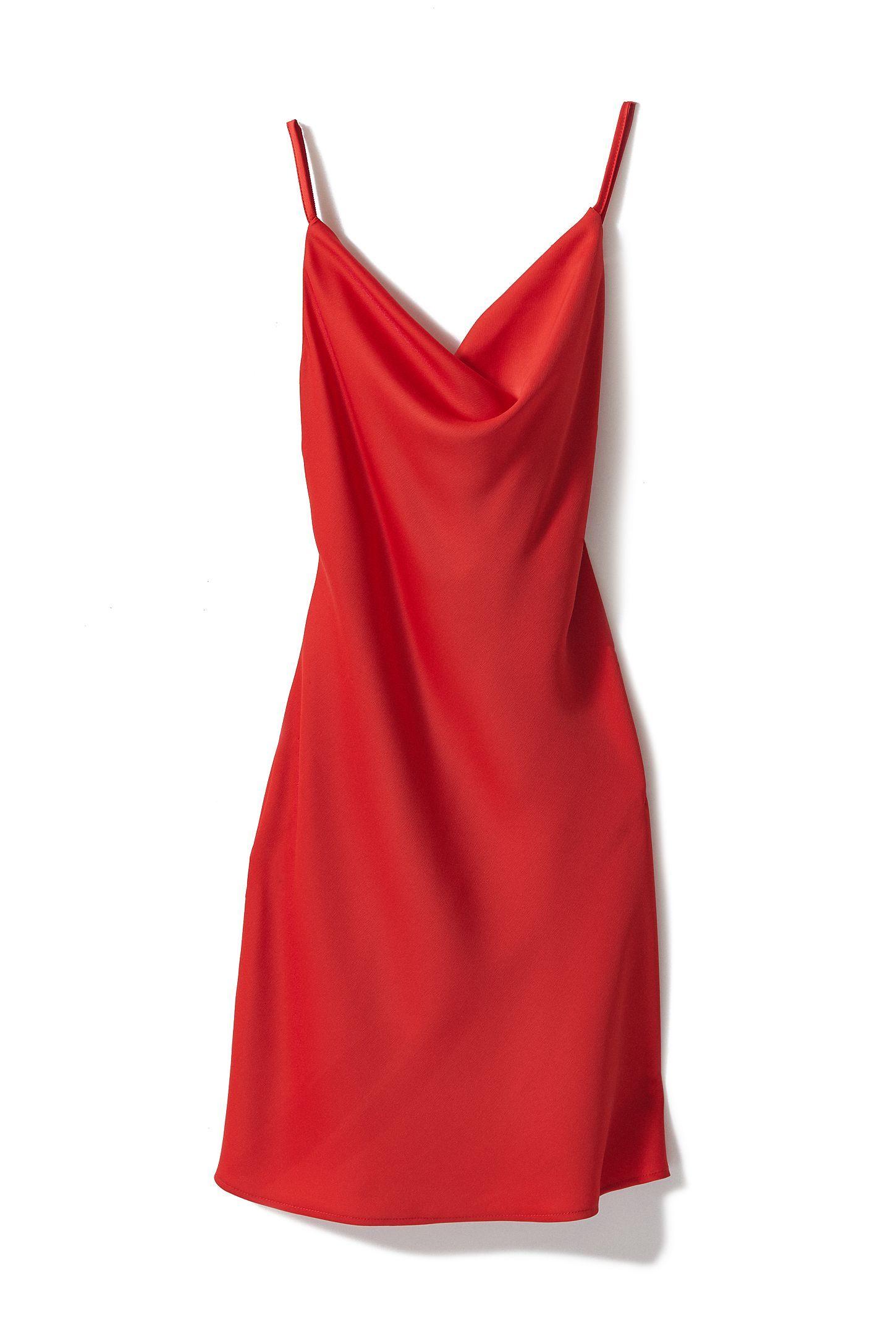 Uo Mallory Cowl Neck Slip Dress Red Slip Dress Slip Dress Mini Slip Dress