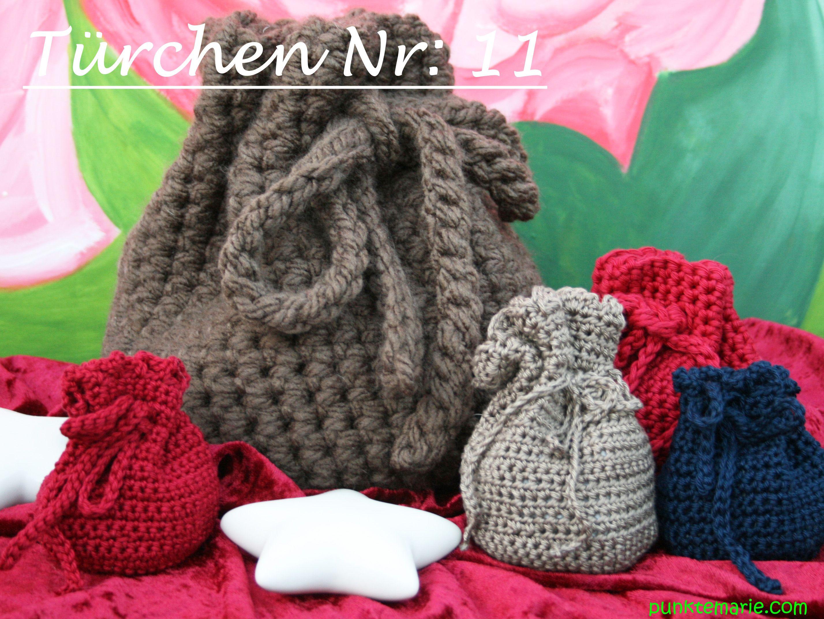 gehäkelte Säckchen | Häkeln / Crochet | Pinterest | Säckchen, Häkeln ...