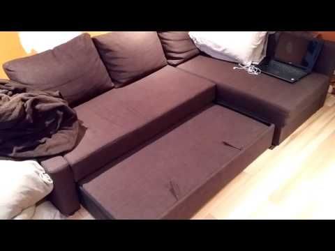 IKEA Manstad Corner sofa bed with storage