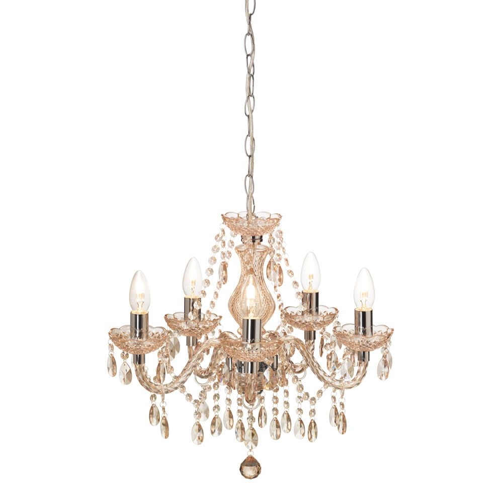 Marie therese light fitting 5 arm champagne arms light fittings wilko marie therese 5 arm chandelier in champagne mozeypictures Choice Image