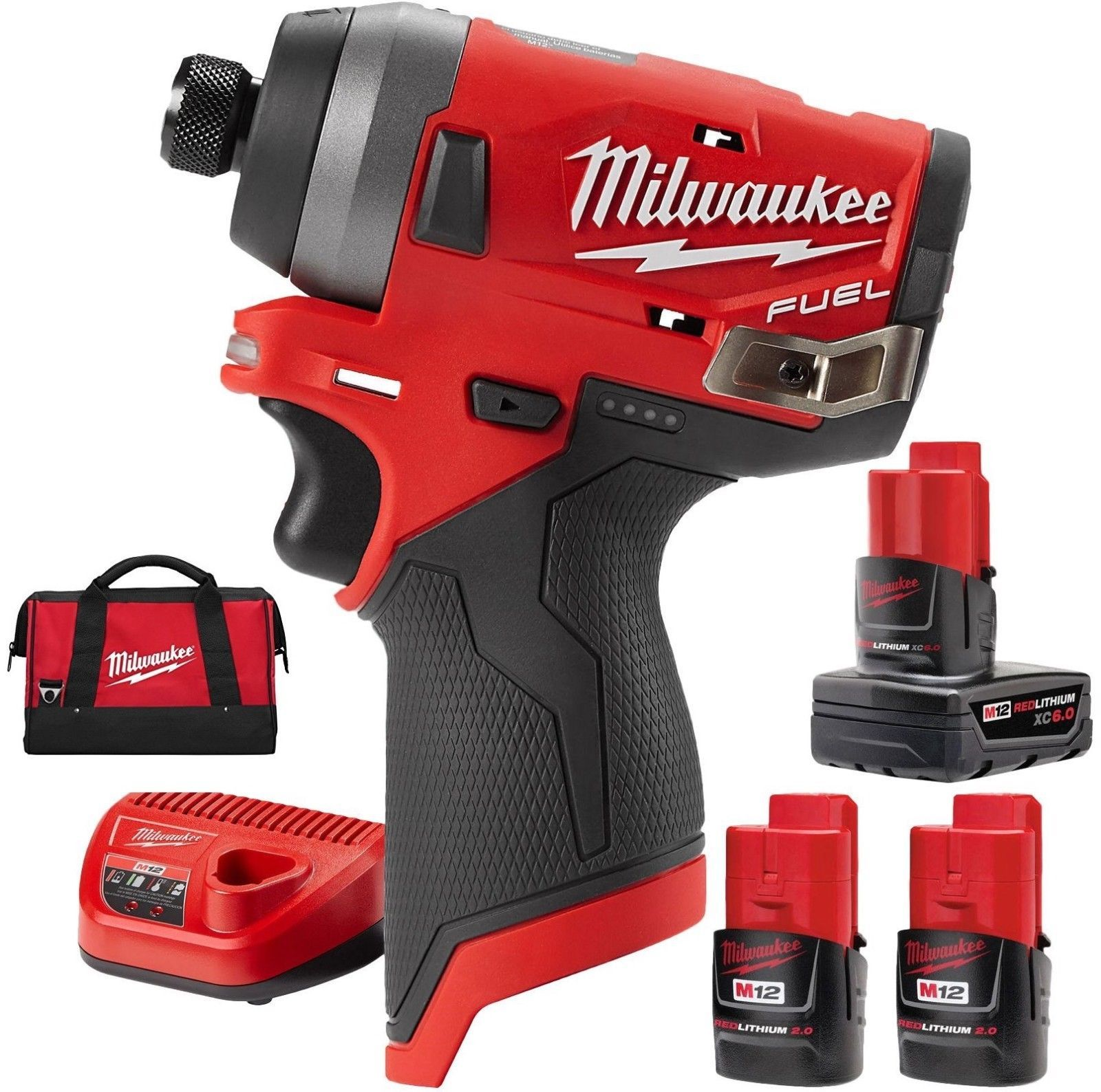 Impact Drivers 168134 Milwaukee 2553 22 M12 Fuel 1 4 Hex Impact Driver Kit W Free 6 0ah Battery Buy It Now Only 1 Impact Driver Milwaukee Milwaukee Tools