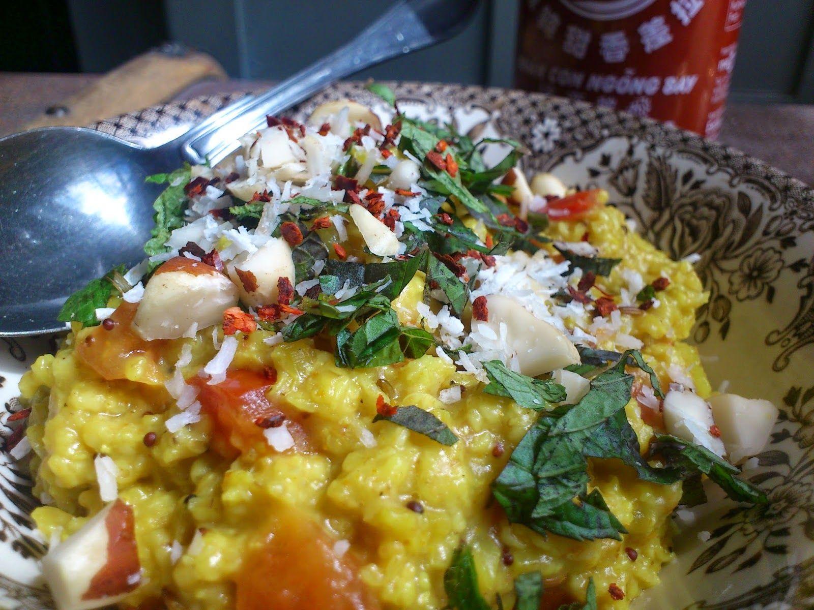 Spicy havregrød (havre Upma) | Buddhas Brownies
