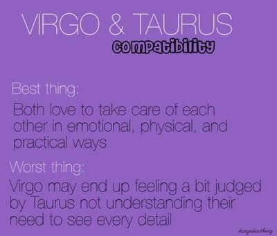 taurus and virgo dating horoscope