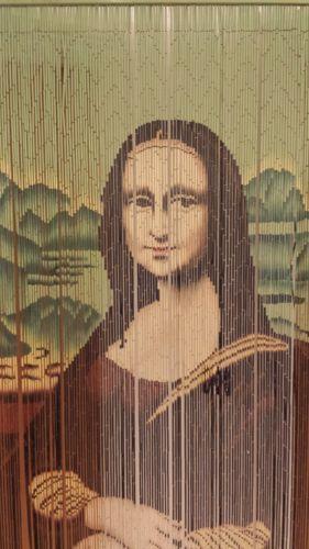 Mona Lisa Wooden Bead Door Curtain Wall Hanging Ebay