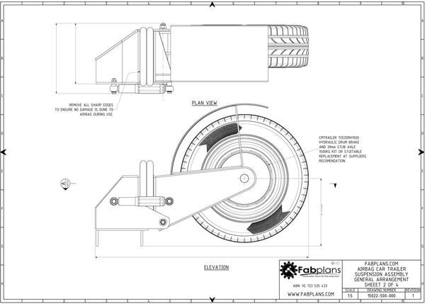airbag trailer suspension arm plans