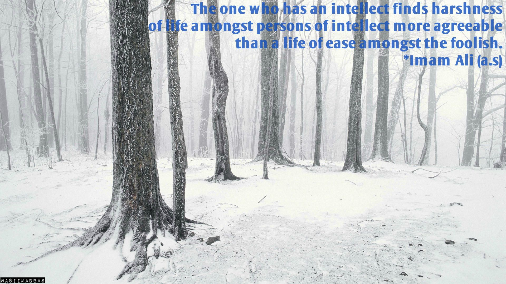 The one who has an intellect finds harshness of life amongst persons of intellect more agreeable than a life of ease amongst the foolish.