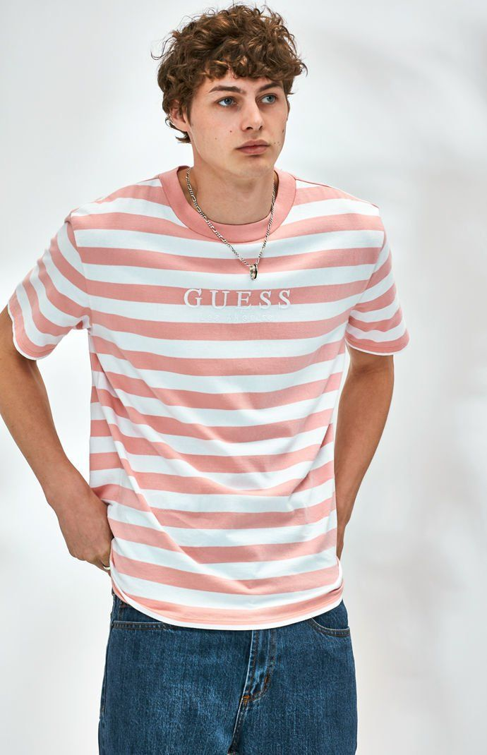 c4d664b9 Originals Men's Striped Logo T-Shirt in 2019 | Products | Outfits with  striped shirts, Yellow t shirt, T shirt