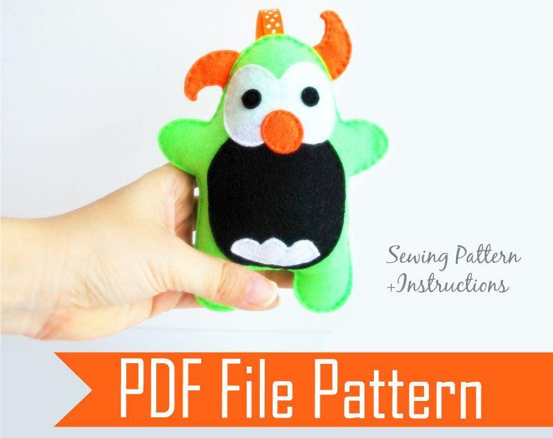 Monster Pattern Monster Sewing Pattern Baby Plush Sewing Pattern
