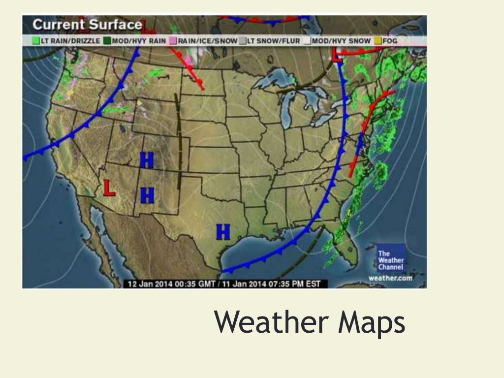 Weather Maps And Their Symbols Powerpoint Science Pinterest