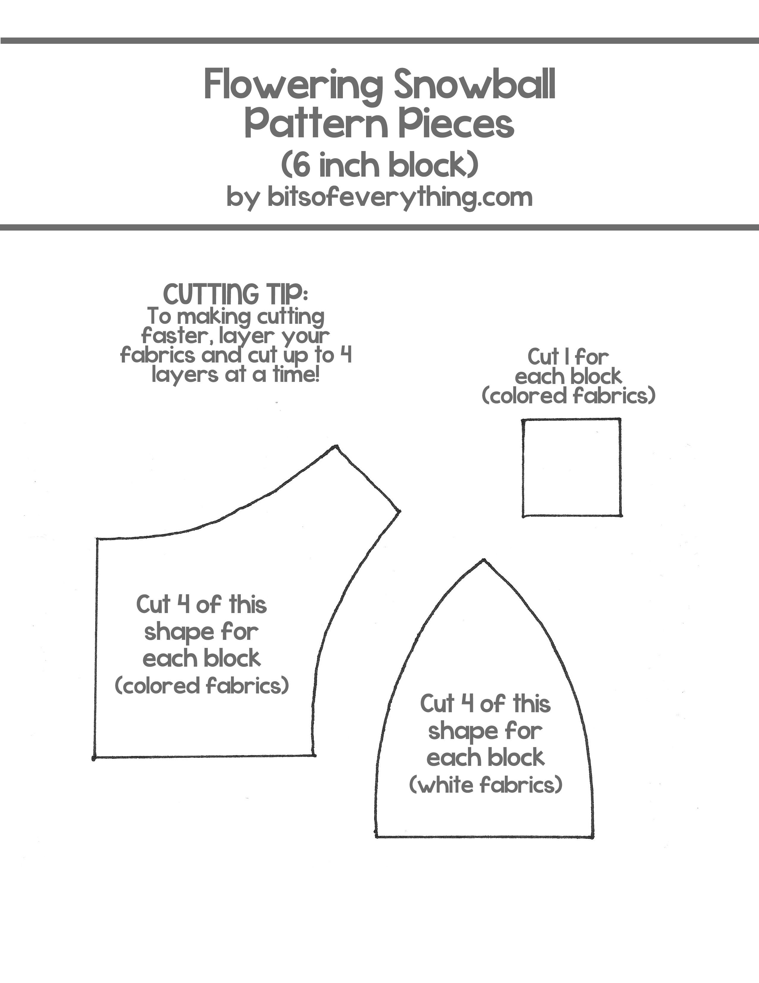 Quilt Tutorial Instructions and free template to make the