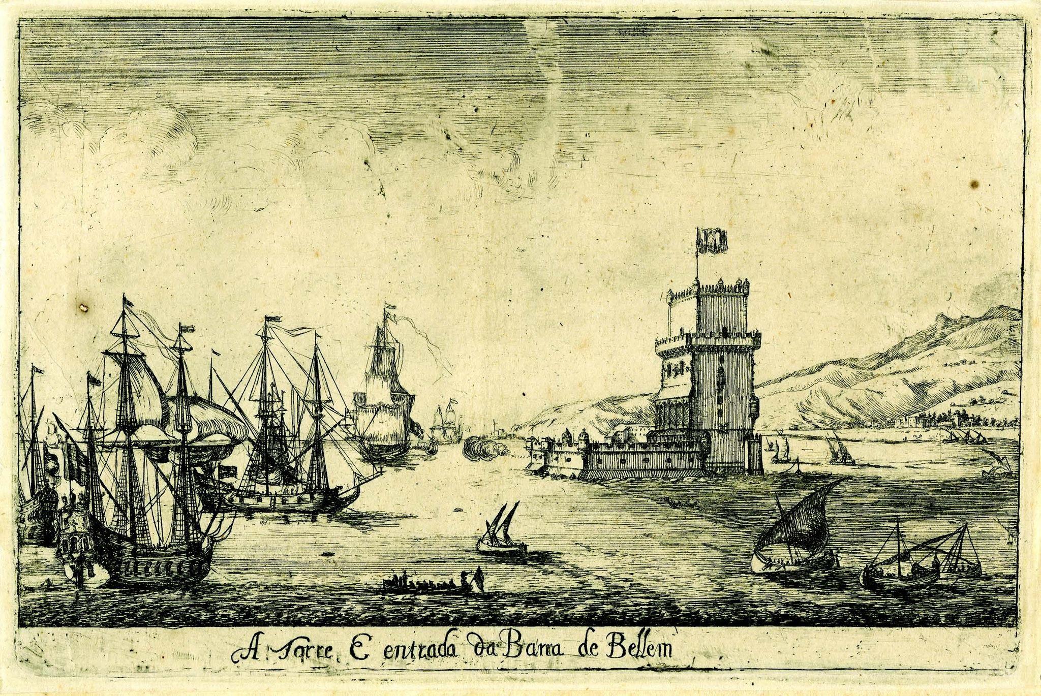 Tour de Belém. Gravura de Dirck Stoop, 1662. Museu de Lisboa