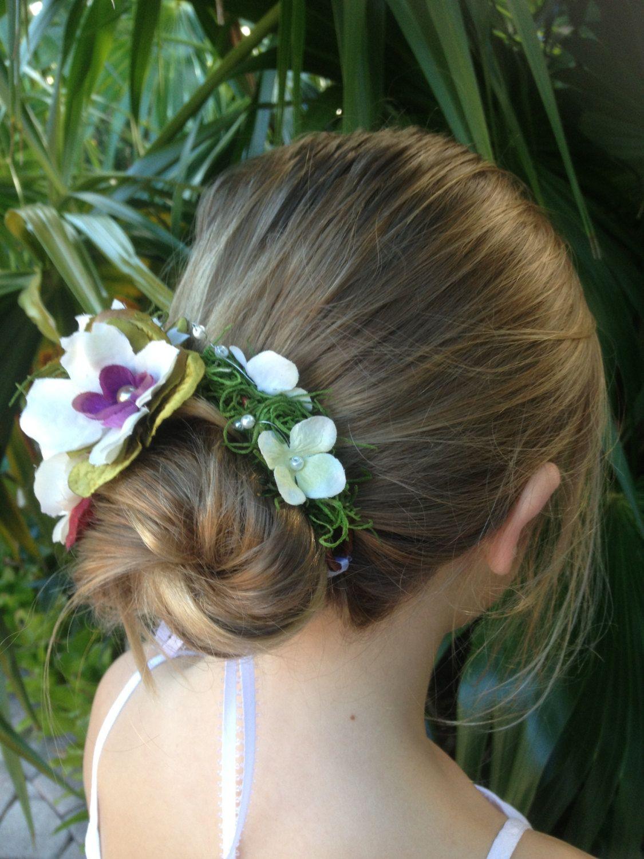 Bun Wrapbun Wreathheadpiecewhite Flower Crownwire Ponytail Wraps