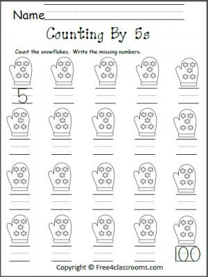 free count by 5s snowflakes worksheet teacher ideas pinterest worksheets count and math. Black Bedroom Furniture Sets. Home Design Ideas