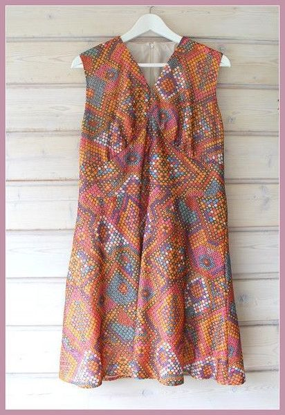 Original 70er Jahre Kleid Von Coco Mademoiselle Auf Dawanda Com