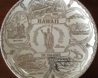 Florida The Sunshine State Souvenir Plate/ by DodasAndDabbels