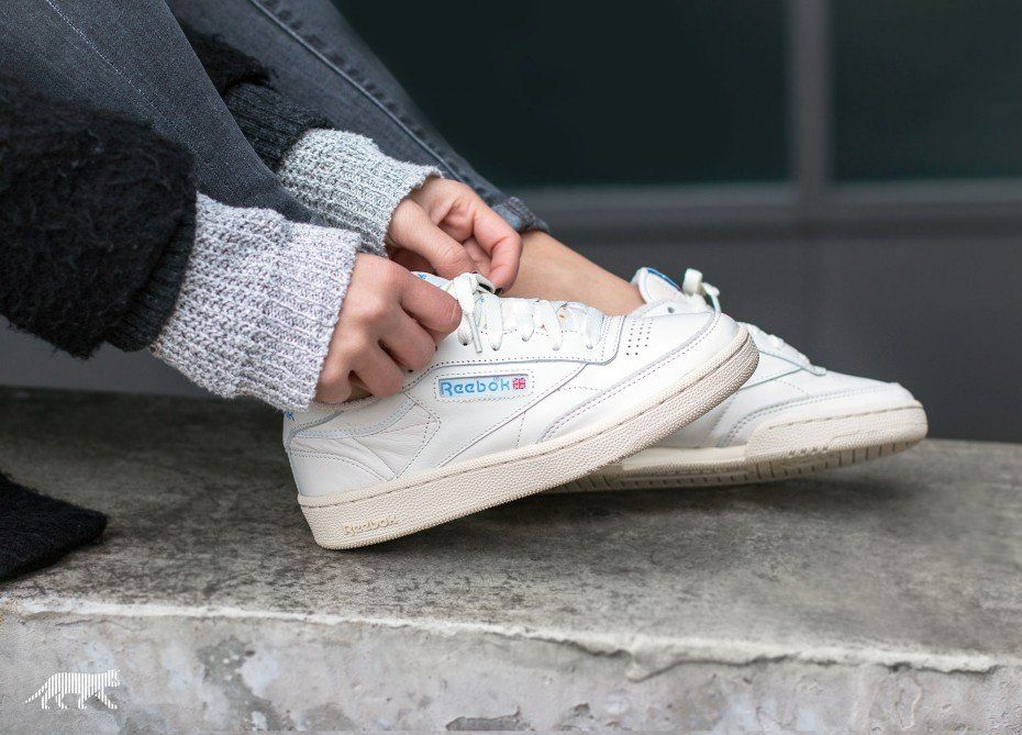 Reebok Club C 85 Vintage (Chalk Paperwhite Athletic Blue