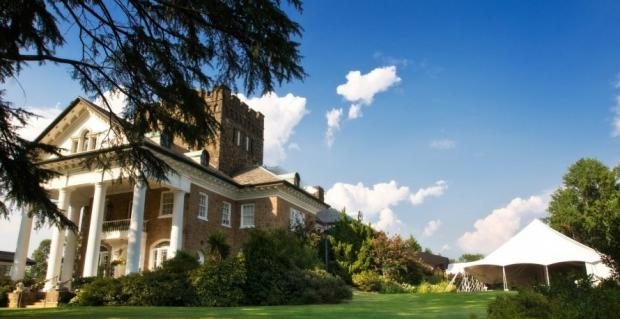 Gassaway Mansion Plantation Greenville South Carolina Wedding Venue Southern White Pillar