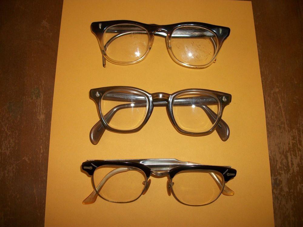 Vintage American Optical AO, SHURON, Marine Safety Glasses Horn Rimmed